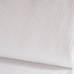 Eponge Nid d'abeille  X10cm- blanc  - 1Tissuépongenid d'abeille- blanc 100% coton, certifié OekoTex Laize d'1m47 Le tissu est