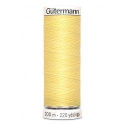 Bobine de fil jaune paille 578 Gütermann 200m polyester pour tout coudre Gütermann - 1Bobine de fil jaune paille coloris 578 Bob