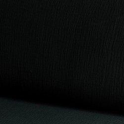 Tissu Double gaze coton X10cm- noir  - 1Double Gazenoir 100%coton , certifié OekoTex Laize d'1m30 Le tissu est vendu par multi