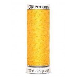Bobine de fil jaune d'or 417 Gütermann 200m polyester pour tout coudre Gütermann - 1Bobine de fil jaune d'or coloris 417 Bobine