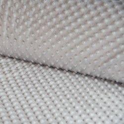 Tissu doudou minkee relief à pois X10cm - gris perle  - 1Tissu doudou minkee relief à pois -gris perle 100% polyester Laize d'1