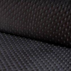 Tissu doudou minkee relief à pois X10cm - anthracite  - 1Tissu doudou minkee relief à pois -grisanthracite 100% polyester Laiz