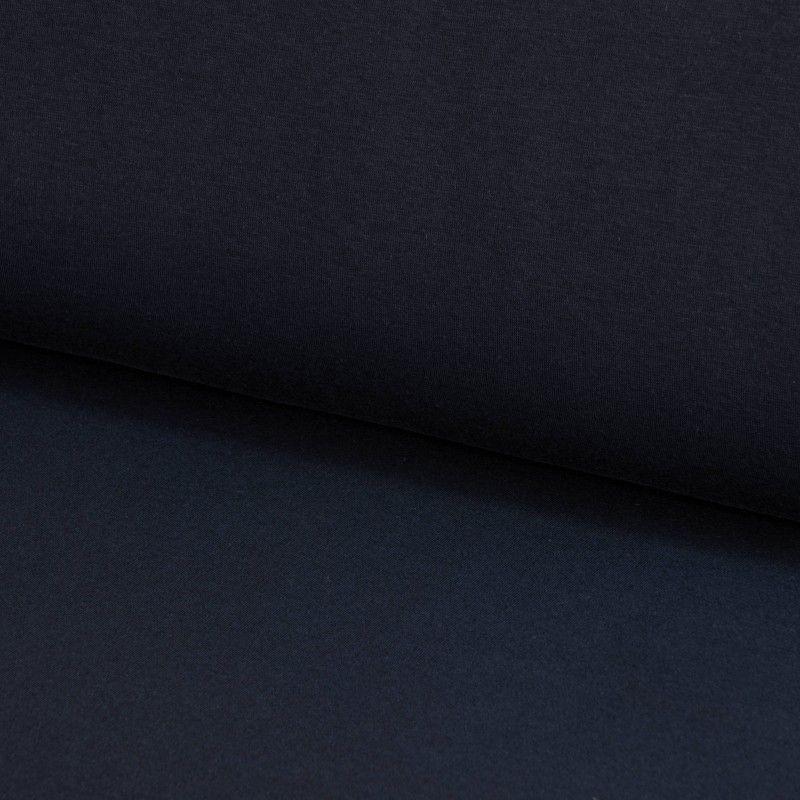 Tissu sweat uni X10cm - marine  - 1Tissusweat molletoné -marine 70% coton , 30% polyester Laize d'1m40 Le tissu est vendu par