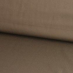 Tissu coton satiné uni X10cm - taupe  - 1Tissu coton extensible effet satiné - taupe 97% coton 3% élasthanne Laize d'1m45 Le tis