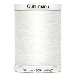 Bobine de fil blanc cassé 111 Gütermann 1000m polyester pour tout coudre Gütermann - 1Bobine de fil blanc cassé coloris 111 Bobi