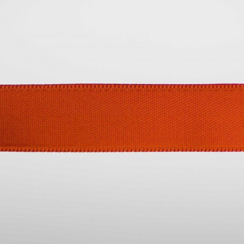 Ruban satin double face - Orange citrouille  - 1Ruban satin double face - orangecitrouille Différentes largeurs : 6,5mm - 8mm -