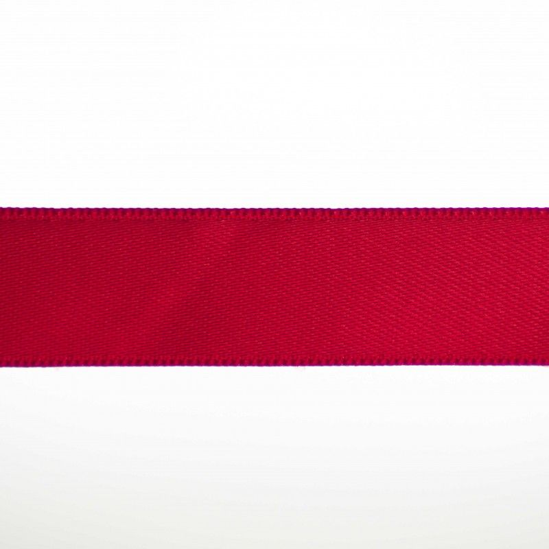 Ruban satin double face - Rouge  - 1Ruban satin double face -rouge Différentes largeurs : 6,5mm - 8mm - 15mm 100%polyester 1 u