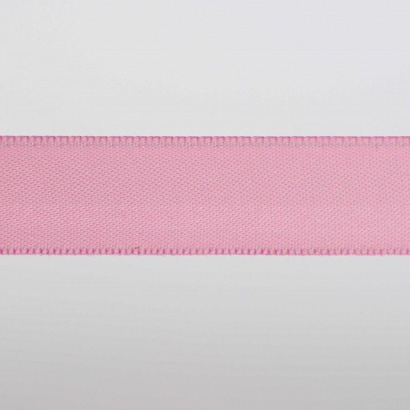 Ruban satin double face - Rose  - 1Ruban satin double face - rose Différentes largeurs : 6,5mm - 8mm - 15mm 100%polyester 1 uni