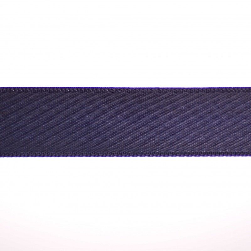 Ruban satin double face - Marine  - 1Ruban satin double face -marine Différentes largeurs : 6,5mm - 8mm - 15mm 100%polyester 1