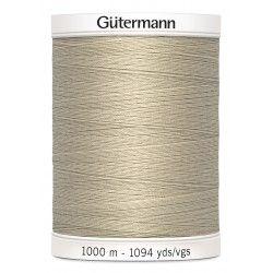 Bobine de fil ficelle 722 Gütermann 1000m polyester pour tout coudre Gütermann - 1Bobine de fil coloris ficelle 722 Bobine de 1