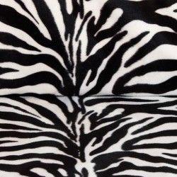Tissu velours ras animal X10cm - zèbre  - 1Tissuvelours ras - zèbre 100% polyester Laize d'1m47 Le tissu est vendu par multipl