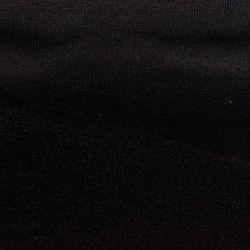 Tissu sweat uni X10cm - noir  - 1Tissusweat molletoné -noir 70% coton , 30% polyester Laize d'1m40 - certifié Oeko-Tex Le tis