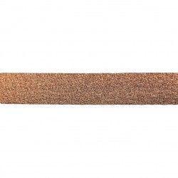 Biais lamé 20mm - cuivre  - 1Biaislamé -cuivre 20mm de largeur 80% polyester , 20% lurex 1 unité = 0m50; pour plusieurs longu
