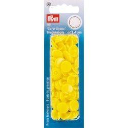 Pressions plastiques pour pince kam jaune clair